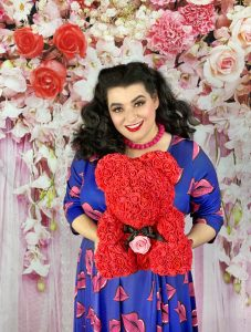 Yasmina Greco Lady V London Lips Print Dress Grand Fleur Bear