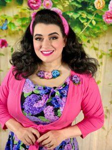 Yasmina Greco Pinup Girl Clothing Erstwilder Hydrangea Jewelry