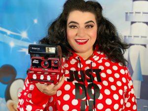 Yasmina Greco Crazy4Me Polaroid Camera Mickey Mouse Mini Mouse Nike Street Style Polka Dots