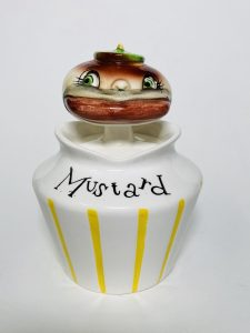 Holt-Howard Hamburger Head Pixieware Mustard Jar