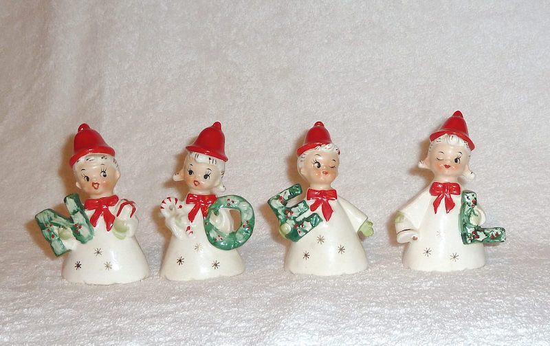 1950s Grimco Japan NOEL Bells Vintage Christmas
