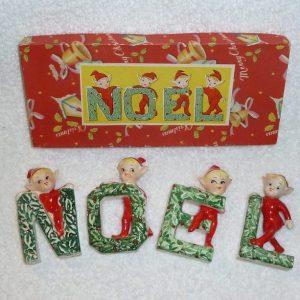 Vintage NOEL Elves pixies Japan 1950s