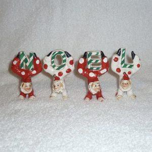 Vintage Christmas NOEL Clown Figures JAPAN 1950s