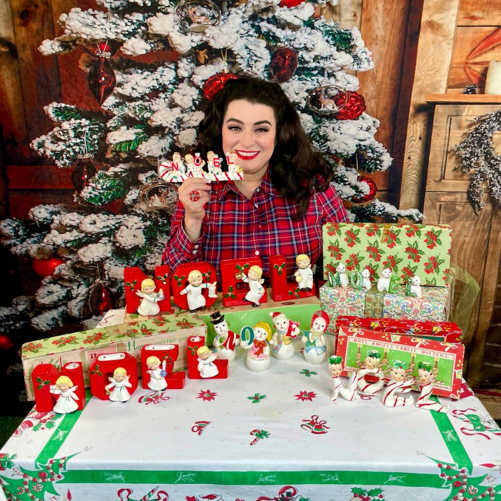 Yasmina Greco collecting vintage Christmas