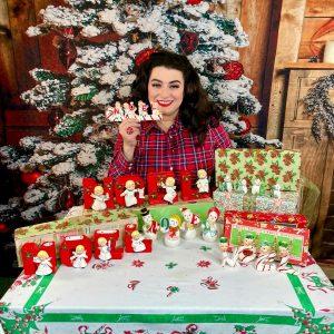 Yasmina Greco collecting vintage Christmas