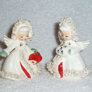 Holt-Howard Ermine Angels Salt and Pepper Shakers
