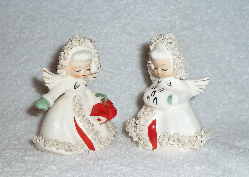 Holt-Howard Ermine Angela Salt and Pepper Shakers