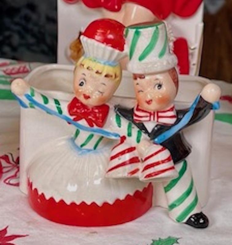 Vintage Relpo Cupcake Couple Planter