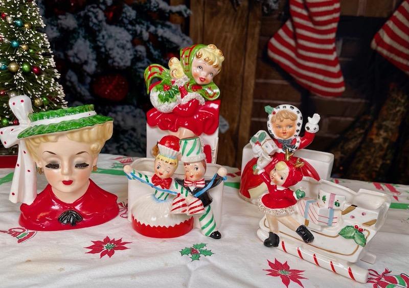 Vintage Christmas Planters