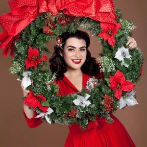 Yasmina Greco Vintage Christmas Old Hollywood Pinup