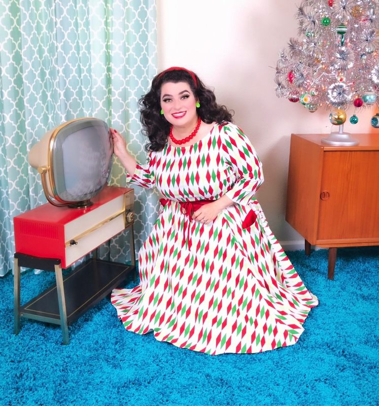 Yasmina Greco Mid-Century Modern Christmas Philco Predicta Television