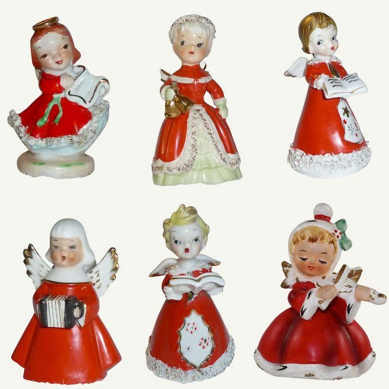 Vintage Christmas Angels Napco Lefton Japan