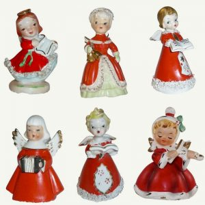Vintage Christmas Musical Angels and Choir Boy Singers Napco Norcrest Lefton Japan 1950s