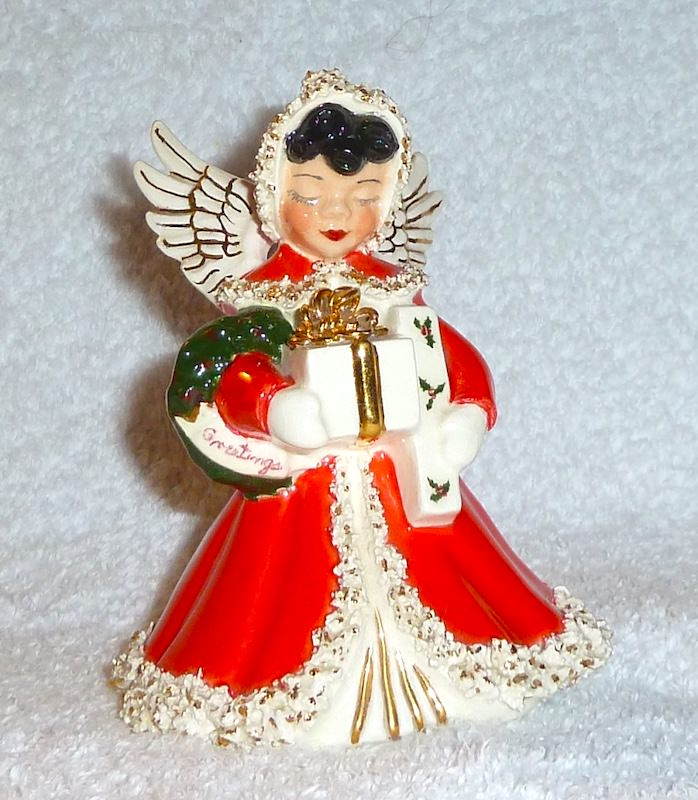 Vintage Napco Brunette Angel Figurine