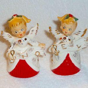 Vintage Napco Noel Angel Salt and Pepper Shakers