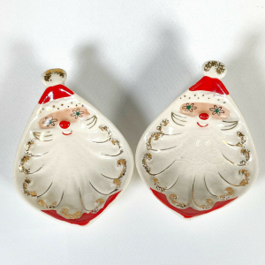 Holt-Howard Starry-Eyed Santa Dishes