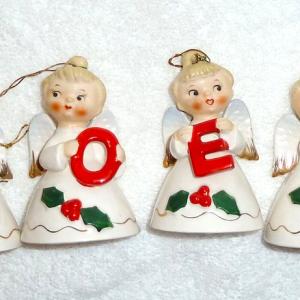 Vintage Lefton Christmas Noel Angels 1956