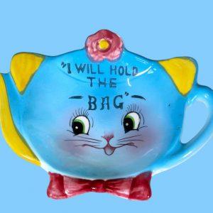 Norcrest Blue Cat Tea Bag Holder CT-12
