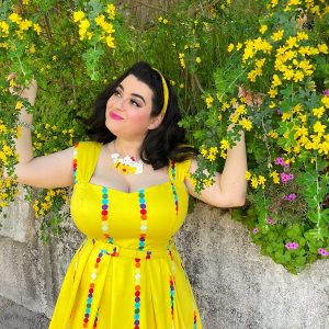 Yasmina Greco Erstwilder Hello Kitty Spring Pinup Girl