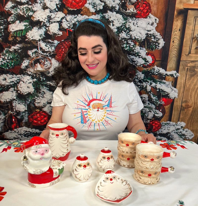 Holt-Howard Starry Eyed Santa Collection Yasmina Greco